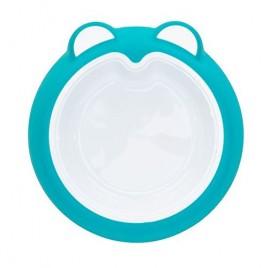 Assiette anti dérapante bleu