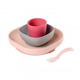 Set vaisselle silicone rose