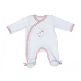 Pyjama blanc naissance Mila