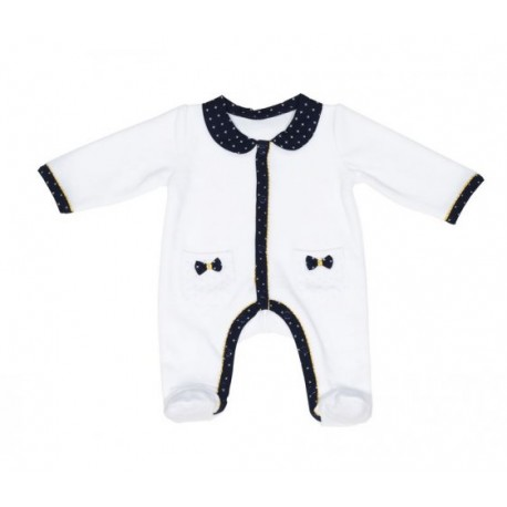 Pyjama fille 1 mois blanc Hello