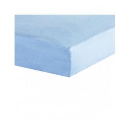 drap housse 40X80cm bleu