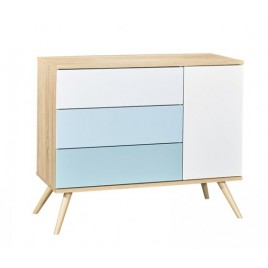 Commode Seventies bleue