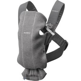 Porte bébé mini gris foncé jersey 3D