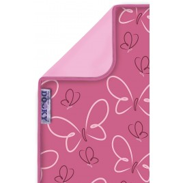 Couverture papillon rose Dooky