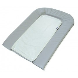 Matelas à langer PVC + éponge gris-blanc