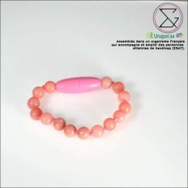 Bracelet bébé quartz rose