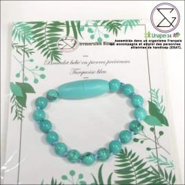 Bracelet bébé turquoise bleu
