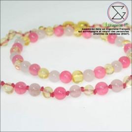 Box quartz/jade collier bébé et bracelet maman