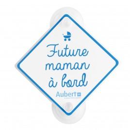 Double signalétique Bébé à bord / Future Maman à bord Bleu Aubert Concept