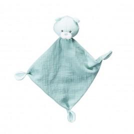 Doudou mouchoir gris Lily mint