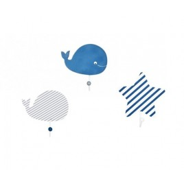 Patère Blue baleine