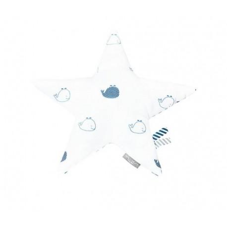 Coussin étoile Blue baleine