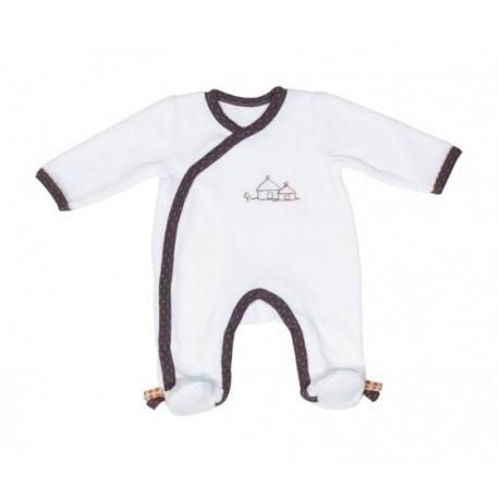Pyjama blanc-gris 1 mois Kenza