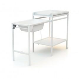 Table à langer + baignoire Blanc