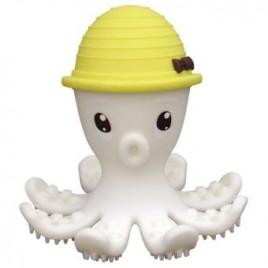 Jouet de dentition Pieuvre 3D jaune
