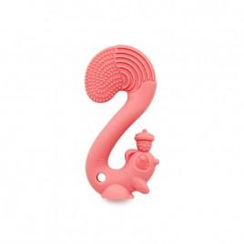 Jouet de dentition Ecureuil rose