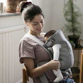 Porte bébé Mini, gris clair, 3D Jersey
