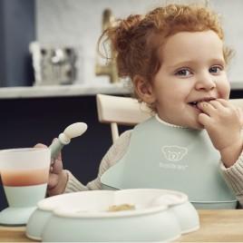 Coffret repas bébé Vert pastel