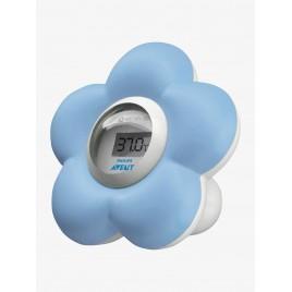 Thermomètre numérique - Forme Fleur - Bleu
