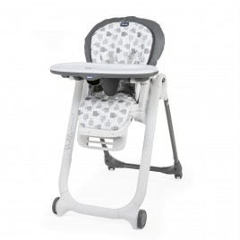Chaise Haute Polly Progres5 - 4 Roues grey
