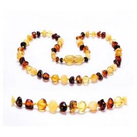 """Bracelet ambre """"hybride"""" mix - clips"""""""