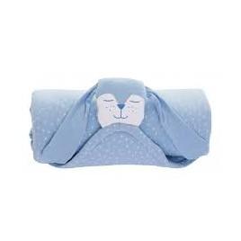 Ma couverture doudou chien bleu