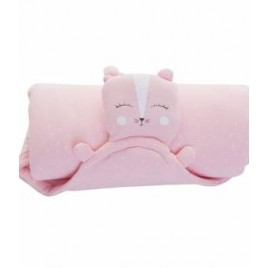 Ma couverture doudou - chat rose