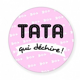 Badge Tata qui déchire
