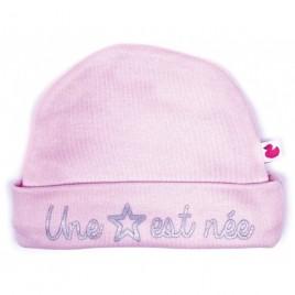 """Bonnet doublé pur coton """"une étoile est née"""""""""""