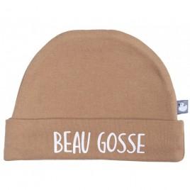 """Bonnet doublé pur coton """"Beau gosse"""""""""""