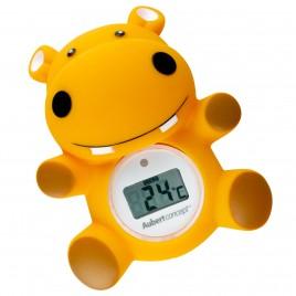 Thermomètre de bain Hippo orange