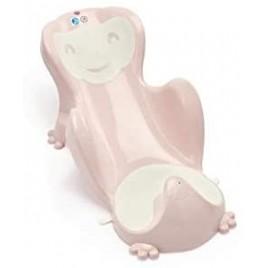 Transat de bain Babycoon rose-blanc