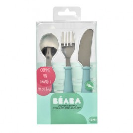 Set 3 couverts inox airy green