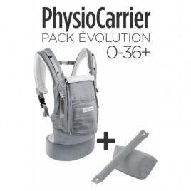 PhysioCarrier gris éléphant + kit extension