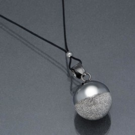 Bola sphère noir rhodium
