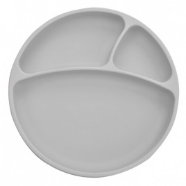 Assiette antidérapante multi-compartiments en sili