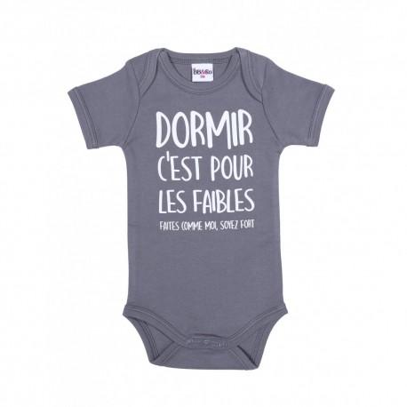 """Body MC """"Dormir c'est pour les faibles"""" -12 mois"""""""