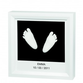 Baby art window sculpture frame blanc-noir