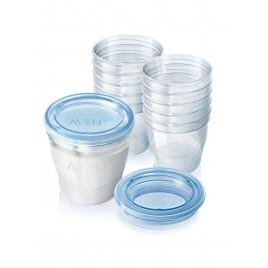 Système de conservation du lait maternel (10 pots 180ml 10 couvercles