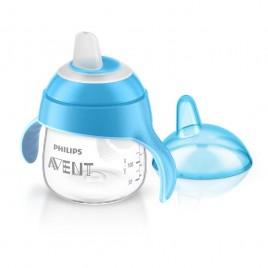 Tasse bec anti-fuites design bleu 200ml