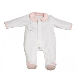 Pyjama velours blanc - 3Mois - Lilibelle
