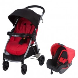Pack duo Step and Go travel system ribbonred